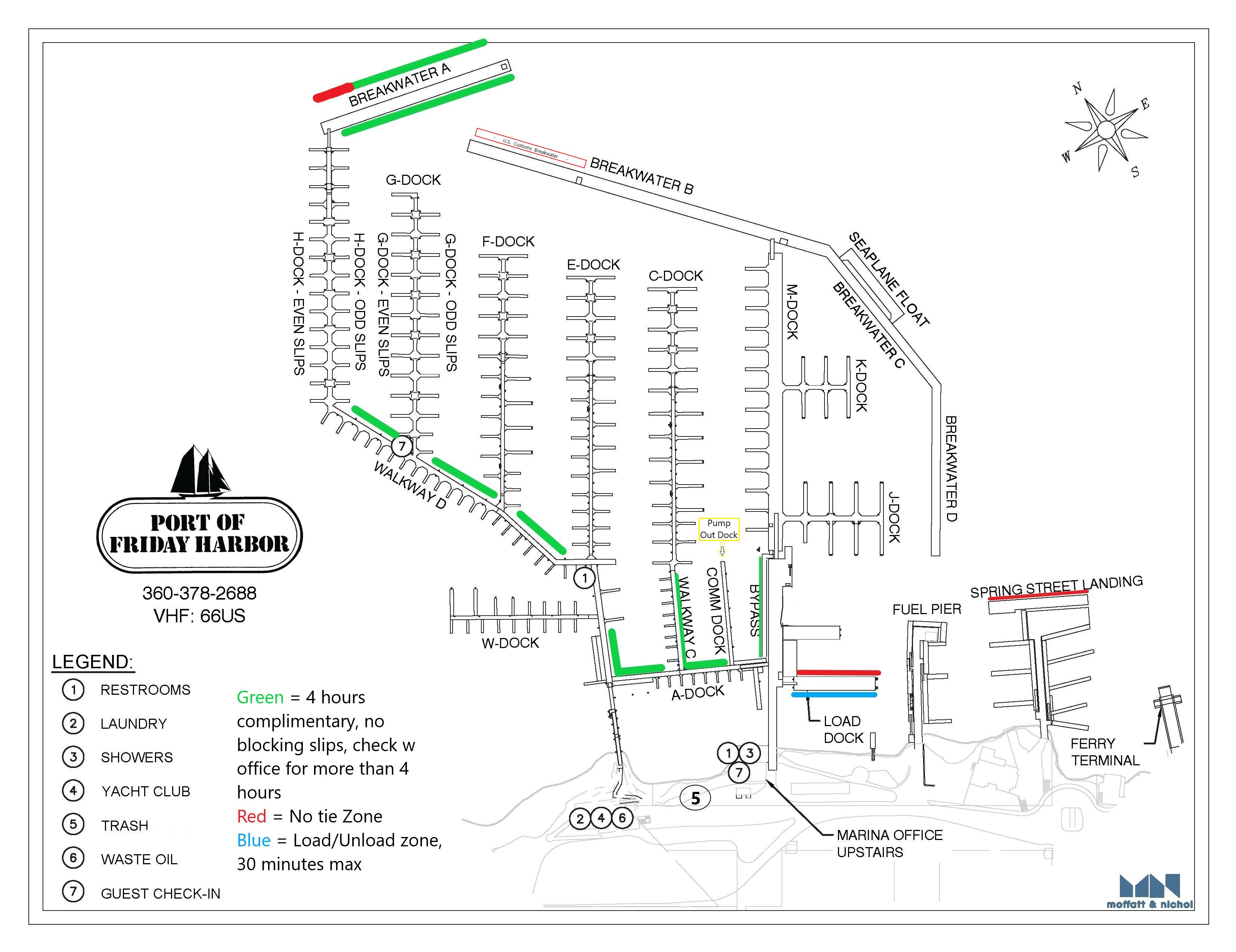 Port of Friday Harbor Marina Map